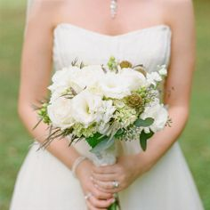 Rustic Ivory Bridal Bouquet