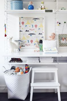 string shelves. Selection of the best kids rooms with decor ideas and inspirations for baby rooms, girls rooms, boys rooms... Cute solutions to make this rooms a happy corner. :) see more home design ideas at: www.homedesignideas.eu