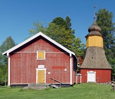 The church in Irjanne village is the oldest wooden church in Satakunta county. It was built in 1731 to replace the older medieval church. The bell tower wad erected in 1758. Old cemetery and church park surround the church.