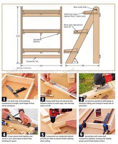 #909 Ladder Planter Plans - Outdoor Plans
