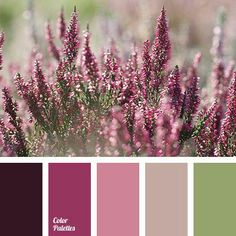 pink mauve beige and green color palette