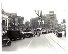 Congregating at Lincoln, Belmont and Ashland, 1930, Chicago.
