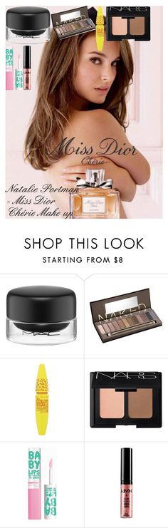 """""""Natalie Portman - Miss Dior Chérie Make up"""" by oroartye-1 on Polyvore featuring beauty, Christian Dior, MAC Cosmetics, Urban Decay, Maybelline, NARS Cosmetics and NYX"""
