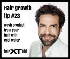 Always rinse hair products out of your hair with cool water. This will close the cuticle and give your hair shine and protection. #sharethegrowth #hair #proof #menshair #womenshair #longhair #beauty #healthy #health #beforeandafter #hairhelp #hairgrowth #HairXT100