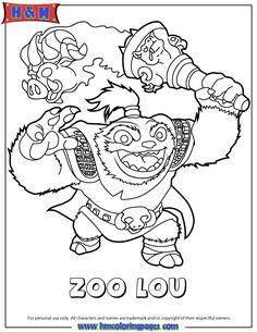 Skylanders Swap Force Life Zoo Lou Coloring Page