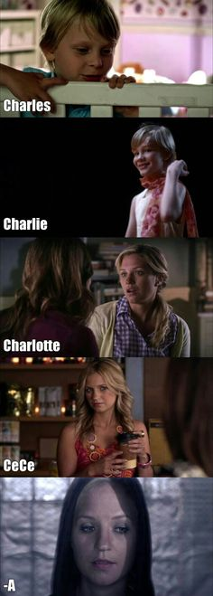 """Spoiler if you just started wathing PLL then I'm sorry for telling you who """"A"""" is. Frases Pretty Little Liars, Prety Little Liars, Gossip Girl, Pll Memes, Grey's Anatomy, Shadowhunters, Abc Family, Life Is Hard, Best Shows Ever"""