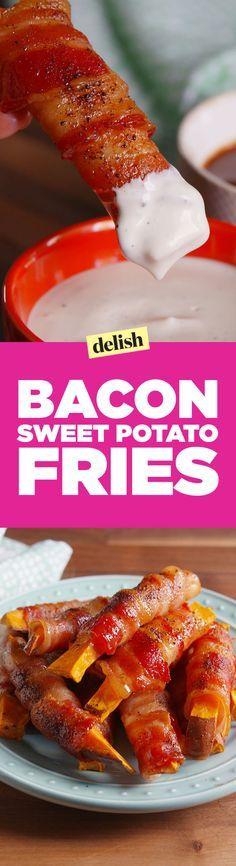 Bacon-Wrapped Sweet Potato Fries - Delish.com