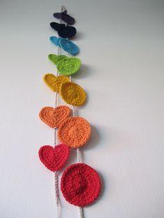 Guirnalda doble corazon   circulo, $99 en http://ofeliafeliz.com.ar