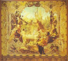Gustav Klimt - Early Works / Entwurf für einen Theatervorhang in Karlsbad 1886
