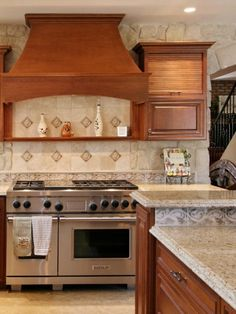 kitchen tile backsplash ideas - behind the cooktop - new home