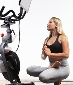 The Pivot Attaches to Your Peloton Bike to Swivel the Screen | POPSUGAR Fitness Kristin Mcgee, Peloton Bike, Bolts And Washers, Killer Legs, Form Design, Leg Lifts, Cycling Shoes, Yoga Fitness, Fitness Gear