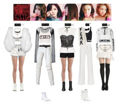 """RED VELVET - BAD BOY❤️"" by vvvan99 ❤ liked on Polyvore featuring GCDS, Off-White, Junya Watanabe Comme des Garçons, Balmain, Alexander Wang, BasicGrey, Chanel, Opening Ceremony, Versace and M.Y.O.B."