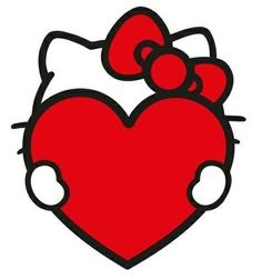 This would make a cute tattoo if I didn't already have a similar one Hallo Kitty, Hello Kitty Art, Hello Kitty Tattoos, Hello Kitty Pictures, Hello Kitty Birthday, Sanrio Hello Kitty, Here Kitty Kitty, Hello Kitty Wallpaper, Sanrio Characters