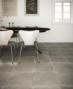 BuildDirect – Porcelain Tile - Nottingham Collection – Light Gray Dove - Kitchen View
