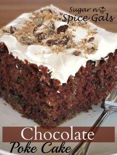 Chocolate Poke Cake on MyRecipeMagic.com #cake #chocolate #poke