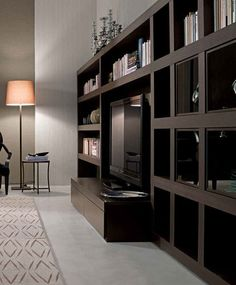 Contemporary wooden bookcase PRIVATE TIME mobileffe