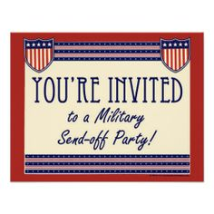 Military Send-off Party Invitations, Army Navy, Marine or Air Forces Service Soldier Card Military Send Off Party Ideas, Military Party, Army Party, Military Life, Navy Party Themes, Us Navy Party, Family Reunion Invitations, Party Invitations, Halloween Invitation Template
