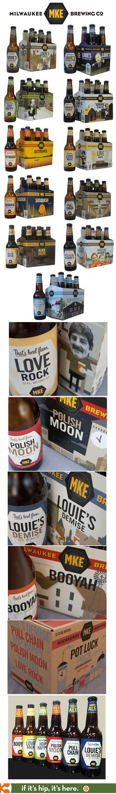 Wonderful re-branding, packaging and names for all of the Milwaukee Brewing Company's Beer by Translator