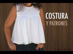 DIY Costura: Como hacer Blusa Plumeti (patrones gratis) - YouTube