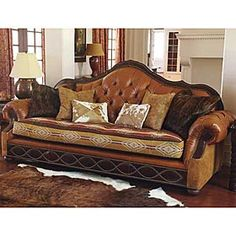King Ranch Tufted Loveseat | Ranch House Decor | Pinterest | King Ranch,  Ranch And Westerns