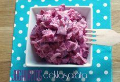 Fitt joghurtos céklasaláta Fitt, Plastic Cutting Board, Icing, Breakfast, Healthy, Dinner Ideas, Health, Supper Ideas