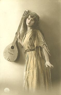 Gypsy woman with lute