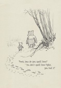Pooh, how do you spell love? - Winnie the Pooh Quotes - classic vintage style poster print - Pooh, how do you spell love? – Winnie the Pooh Quotes – classic vintage style poster print Images Disney, Phineas E Ferb, Winnie The Pooh Quotes, Piglet Quotes, Winnie The Pooh Drawing, Winnie The Pooh Tattoos, Piglet Winnie The Pooh, Frases Tumblr, Pooh Bear