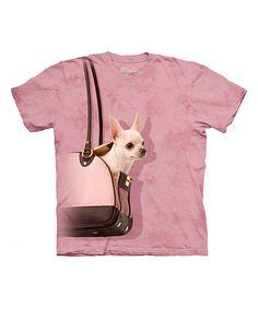Pink Handbag Chihuahua Sublimation Tee - Toddler & Girls