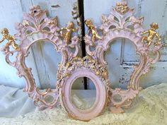 Shabby cottage pink ornate frame grouping by AnitaSperoDesign, $170.00
