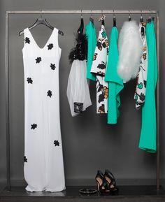 Fiori, bianco e nero... e verde smeraldo.