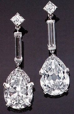 Cartier Diamonds and Platinum earrings.