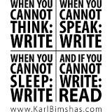Writing clears the mind...reading challenges it.
