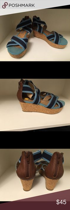 Splendid wedges  WEEKEND SALE!!  Super cute wedges and they'll keep you strapped in!  ;) Splendid Shoes Wedges