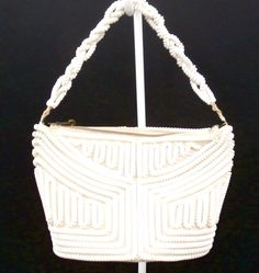 Vintage Creamy White Telephone Cord Purse White 1940's – The Best ...