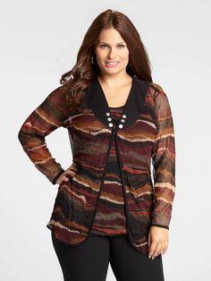 Printed Mesh Cardigan Mesh, Printed, Blouse, Long Sleeve, Sleeves, Sweaters, Style, Women, Fashion