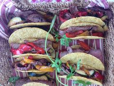 These beef tacos would be a hit with kids (the adults did a good job of polishing these off too! From Farm To Table, Summer Bbq, Good Job, Tacos, Mexican, Beef, Ethnic Recipes, Kids, Food