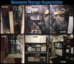 Basement Storage Organization with Silver Lining Organizers