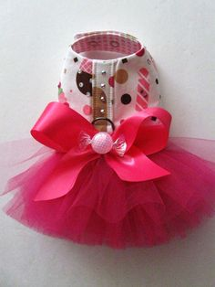 Sweet Treats Tutu Harness Dog Dress. $80.00, via Etsy.