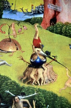 ~ between 'The Garden of Earthly Delights', by Hieronymus Bosch (Hertogenbosch Hasburg; Jérôme or Jheronimus van Aken Bosch) Renaissance Paintings, Renaissance Art, Hieronymus Bosch Paintings, Arte Tribal, Garden Of Earthly Delights, Dutch Painters, Great Paintings, Medieval Art, Fantastic Art