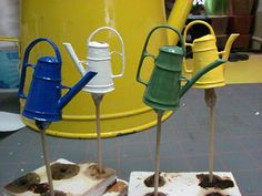 How to make a mini watering can  *********************************************  1inchminisbykris - #miniature #miniatures #fairy #garden #gardens #crafts #DIY #whimsical #whimsy #basket - tå√