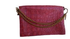 Bordeaux croco texture clutch, leather clutch sold by La Fleche Leather Handmade. Shop more products from La Fleche Leather Handmade on Storenvy, the home of independent small businesses all over the world. Leather Pouch, Leather Purses, Bordeaux, Handmade Gifts For Her, Texture, Cosmetic Case, Toiletry Bag, Metal Chain, Hand Stitching