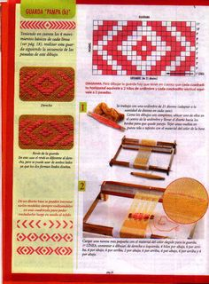 evia telar 2 2006 - Daina Veide - Álbuns da web do Picasa Inkle Loom, Loom Weaving, Mochila Crochet, Card Weaving, Handbag Patterns, Fair Isle Pattern, Weaving Projects, Weaving Patterns, Tapestry Weaving