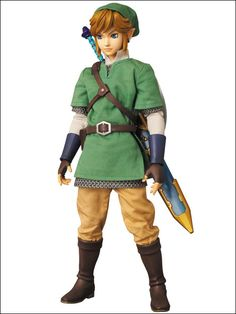 Link action figure with clothes actually made with cloth!