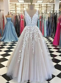 c3996816b4d Custom made champagne lace tulle long prom gown
