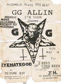 Image of GG Allin T shirt