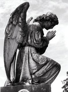 Angel by KWilliamsPhoto on DeviantArt Angel Sculpture, Sculpture Art, Sculptures, Cemetery Angels, Cemetery Statues, Religious Tattoos, Religious Art, Gardian Angel, Heaven Tattoos