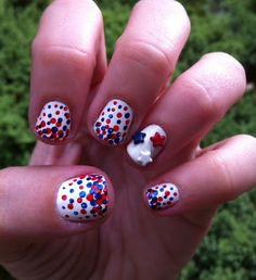 Miscellaneous Manicures: Patriotic Flag Day Nails - This Date in History