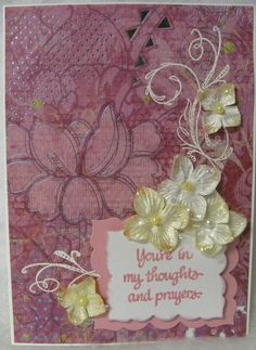 Sympathy Card for Good Friend - by Laura Taivalkoski Hamilton (Scrapbook.com)