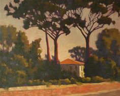 Rodgers Naylor through UGallery. Love the soft feel! The parasol pines are such a reminder of Europe.