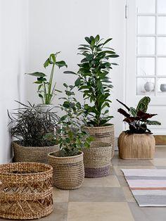 Outdoor planters with plants by bloomingville scandinavisch design plants i